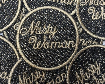 LIGHT-GOLD Nasty Woman Patch