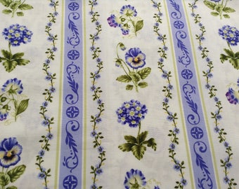 Botanical Blues by Northcott Fabrics, Quilting Material, Gorgeous Spring, Multiple Yards Available.  Sold by the Yard, 100% cotton, Sewing