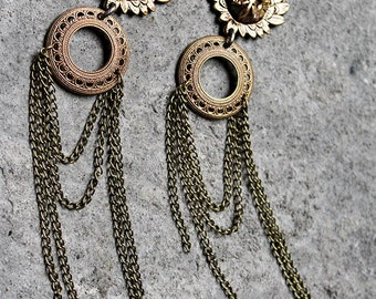 Owls chains earrings