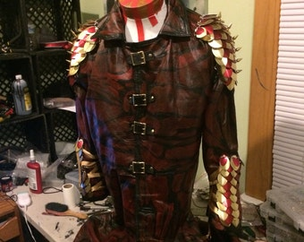 Red and Gold armored coat