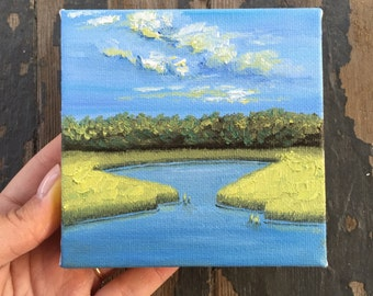 4x4 mini oil painting #11 - part of the #Kriloart100days project!