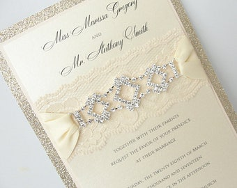 Elegant invitation Etsy