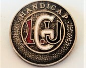 Ladies Golf Union Enamel Badge... c.1930s... Silver & Enamel... Handycap