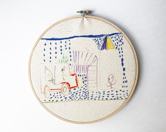 Personalized | Your Child's Artwork | Printed Embroidery Hoop