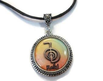 Reiki Necklace   Reiki Power Symbol Pendant   Spiritual Jewelry   Reiki Pendant Necklace   Aromatherapy Diffuser Jewelry   Spiritual Gifts
