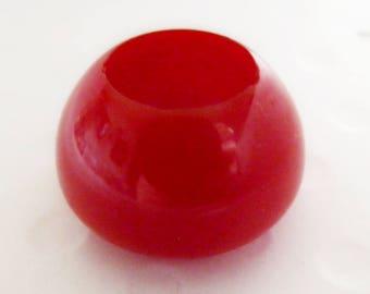 Deep Well Bakelite  Button Cherry Red