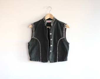 STUD - black studded vest