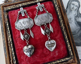 Antique French Nun Earrings, Unique Handcrafted Talisman's for the Passionate, offered by RusticGypsyCreations