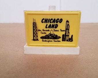 Vintage Chicago Land Salt and Pepper Shakers