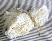 Vintage Cotton Trim, Off White or Cream Ecru Fringe, Pillow Trim Yardage, Over 6 Yards of 2 inch wide Trim, Perfect for Tea Dye Projects