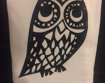 Owl Flour Sack Kitchen Towel