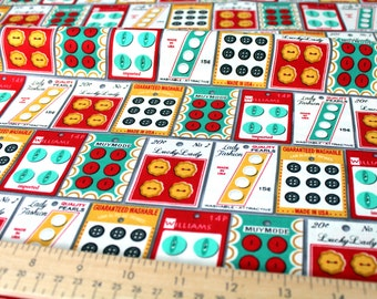 Grey button packages from the Gran's sewing basket fabric collection by Heidi Kenney (my paper crane ) for Robert Kaufman