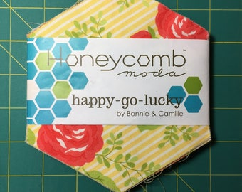 Happy Go Lucky Honeycomb Pack Bonnie & Camille moda fabrics hexagons