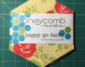 SALE : Happy Go Lucky Honeycomb Pack Bonnie & Camille moda fabrics hexagons
