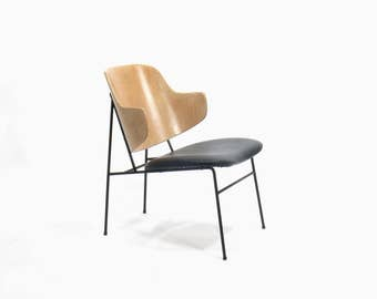 Danish Ib Kofod Larsen Penguin Lounge Chair