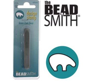 Zuni Bear Metal Stamp- 6mm-Design Stamp-Steel Stamp by Beadsmith for Metalwork- or Leather Metal Supply Chick-LPSD106