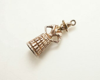 Vintage Sterling English Victorian Lady Charm