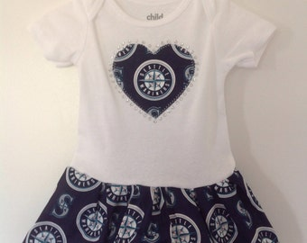 Seattle Mariners Inspired Infant Dress