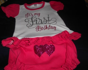 It's my First birthday Pink 2 pc outfit