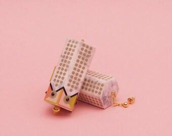 """SALE Marble Earrings // Geometric Earrings // Mod Earrings // 60s Inspired Earrings // Op Art Earrings // The """"Crystal Chandelier"""""""