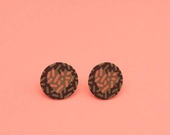 CLEARANCE Heart Earrings // Graphic Earrings // Shrink Plastic // Geometric Earrings // Memphis Inspired Jewelry