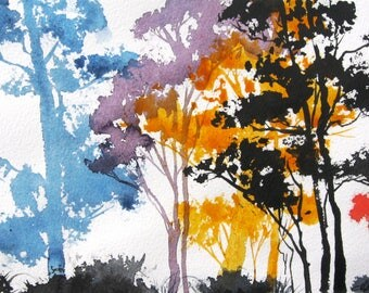 Aspen Colors 3 - Original Watercolor Painting