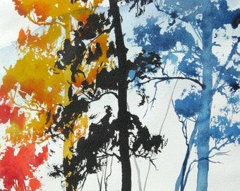 Aspen Colors IV - Original Watercolor Painting