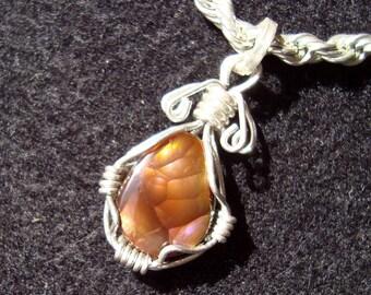 fire agate pendant  fire agate jewelry