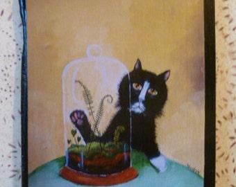 Cat and Terrarium