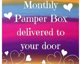 Monthly pamper box, exclusive art,  limited edition, love, hippy box, bohemian gift set, subscription box