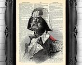 Star Wars Darth Vader Funny Star Wars art print Dictionary book page print Victorian Darth Vader Poster Wall Art Cool gift for boyfriend 011
