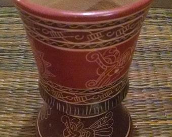 Vintage Costa Rican clay chalice.