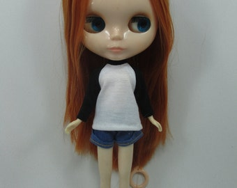 Handmade outfit for Blythe doll long sleeve Sweater Tee shirt SD-3