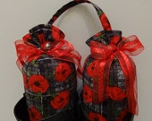 Red Pansies  Boot Trees