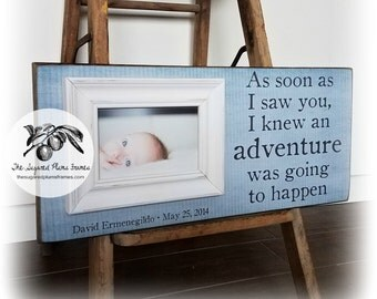 Baptism Gift, Godson Gift, Goddaughter Gift, Baptism Keepsake, Gift from Godparents, First Birthday Gift, Gallery Wall Frames 8x20