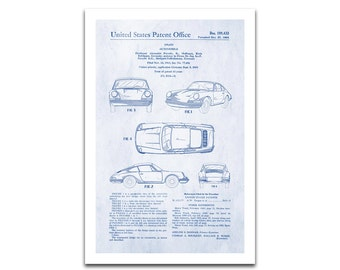 Porsche Patent Art Giclee on archival matte paper