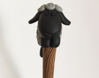 Little Black Sheep Crochet Hook J
