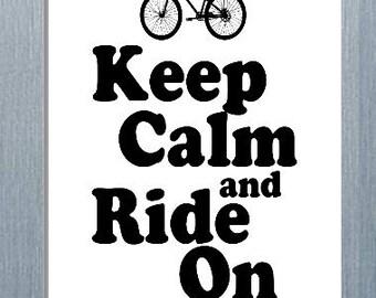 Keep Calm and Ride On Magnet, Refrigerator Magnet, Fridge Magnet
