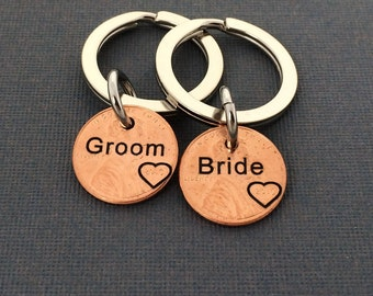 Couple Wedding Gift - Personalized Stamped Penny - Gift for Him - Daughter Gift For - Son Gift For - Anniversary - Wedding Gift