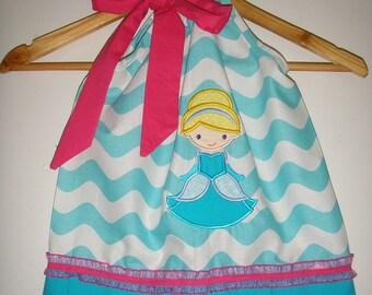 Dress fairytale  Princess dress aqua chevron wavy Princess  dress s 3,6,9,12,18 months, 2t, 3t, 4t, 5t, 6,7,8,10,12