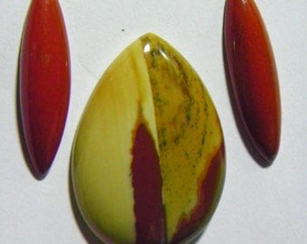 Mookite Jasper Set of Three Designer Cabochon (G-101)