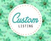 Custom Listing for Jillian
