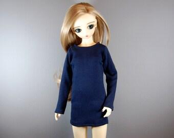 SD / SD13 Navy Blue Long Sleeve Dress for Girl BJD, Ball Jointed Dolls