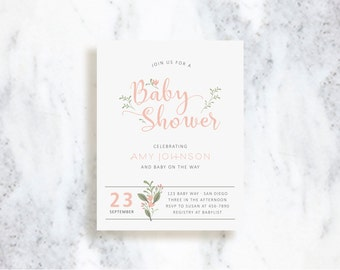 Baby Shower Invitations // Garden // Bridal Shower