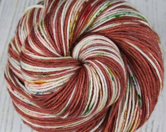 ROSE GARDEN: Superwash Merino Wool-Nylon - Fingering / Sock Weight Yarn - Hand dyed sock yarn - Indie dyed yarn - Self-stripe sock yarn