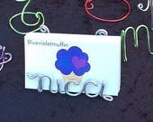 Business card holder wire name