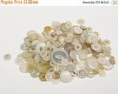 HALF OFF 180 White Buttons Vintage Plastic Buttons