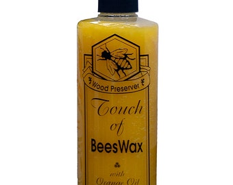 Touch of Oranges Beeswax Wood Preserver Restorer 16 oz