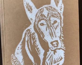 German Shepherd Handmade Block Print Card