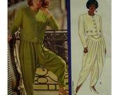 Harem Pants Pattern, Zouave, Tapered, Drop Crotch, Yoke, Pleats, Overlapping V-Shape Legs, Jacket, Butterick No.5010 UNCUT, Size 6 8 10